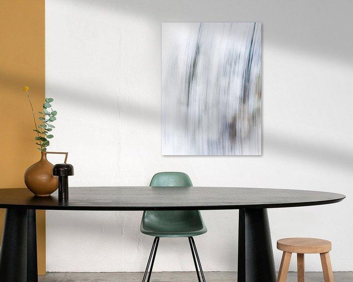 Sfeerimpressie: Striped | Modern abstract digitaal kunstwerk van Henriëtte Mosselman