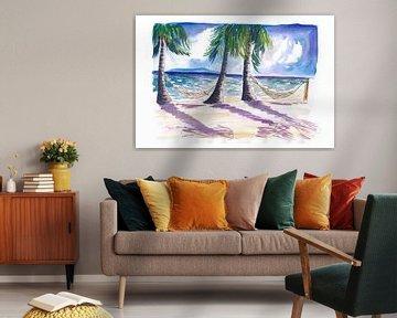 Chillen in der Karibik mit Hängematten am Strand von Markus Bleichner