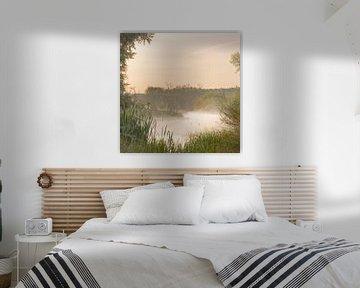 Doorkijkje met twee eenden in de mist van Bas Ronteltap