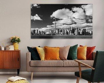 Toronto Skyline in schwarz-weiß von Henk Meijer Photography