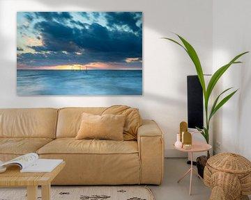 Coucher de soleil sur la plage de Rockanje sur Marieke Smetsers