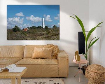 Witte vuurtoren (Zuidertoren) op Schiermonnikoog