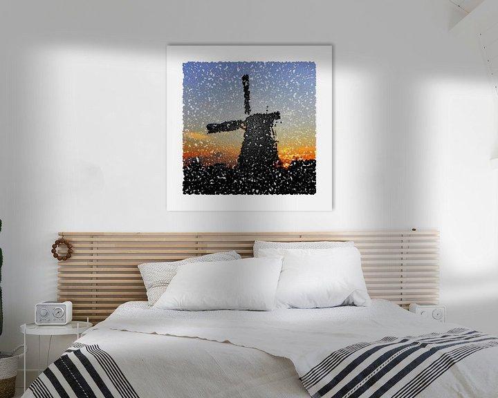 Beispiel: Abstrakt Stil Runde Mühle von Hendrik-Jan Kornelis