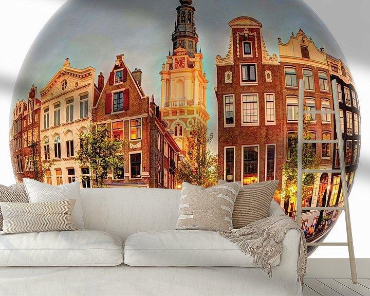 Sfeerimpressie behang: Zuiderkerk Amsterdam Ronde Bol van Hendrik-Jan Kornelis