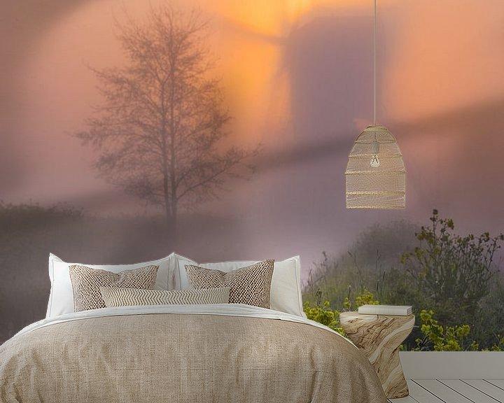 Beispiel fototapete: Mühle in den Niederlanden im Nebel von Paul Begijn