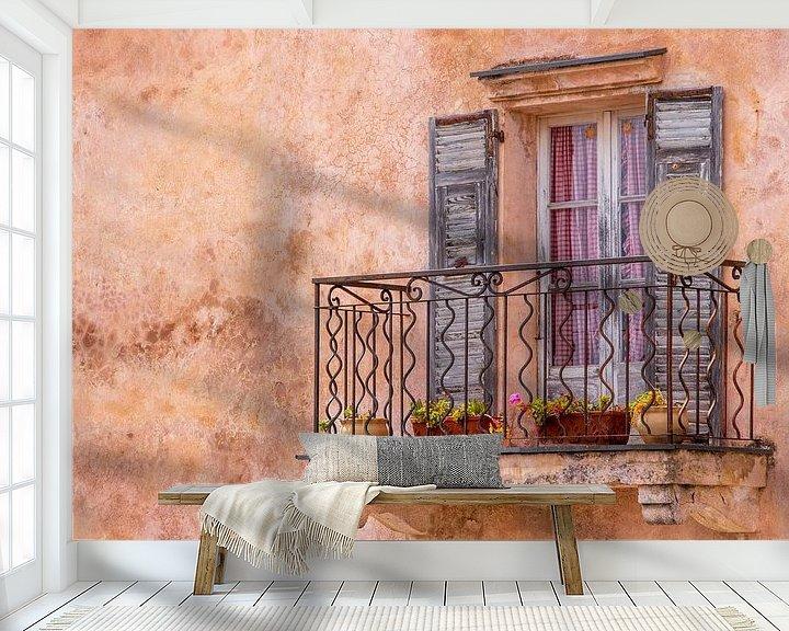Beispiel fototapete: Mediterranes, altes Fenster mit Balkon von Fartifos