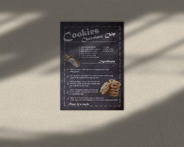 Recipe of Dessert - Chocolate Chip Cookie van JayJay Artworks