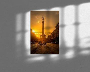 Berlin Siegessäule Sonnenlicht von Iman Azizi