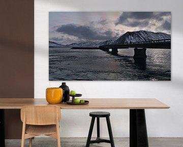 Brug over Kolgrafafjörður Fjord van Timon Schneider