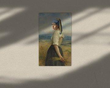 Meisje met parel in de velden van Jerome Coppo
