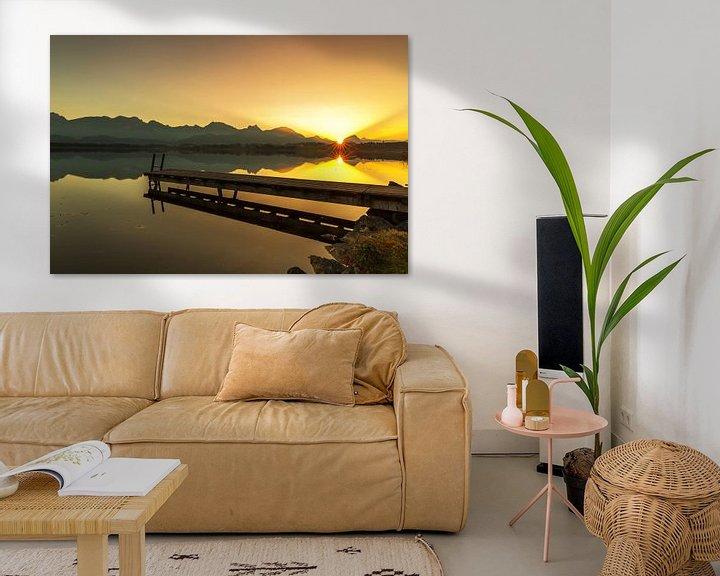 Impression: Une jetée idyllique au coucher du soleil sur Frank Herrmann