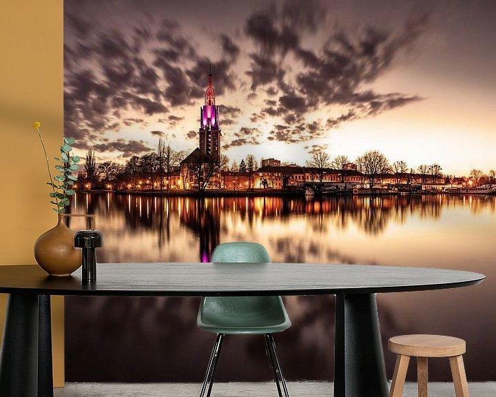 Impression: La ligne d'horizon de Potsdam au coucher de soleil de la Havel sur Frank Herrmann