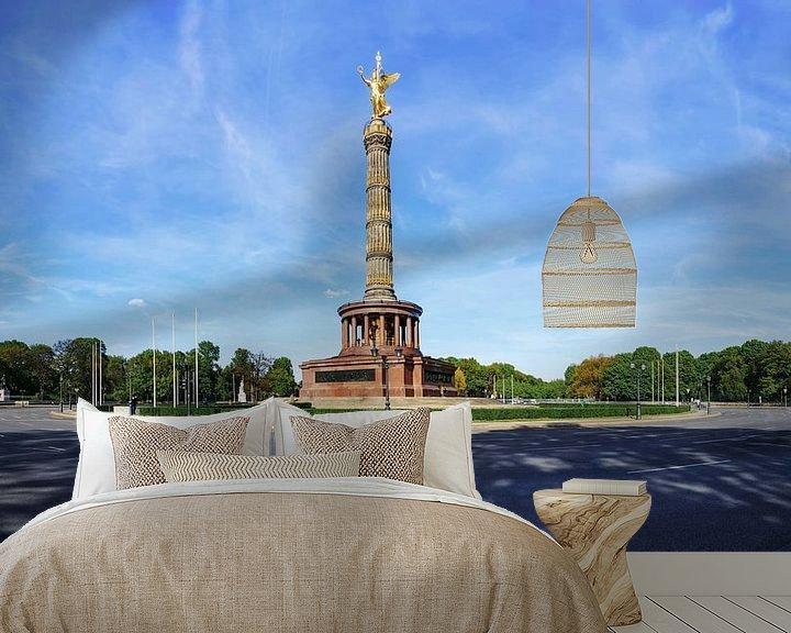 Sfeerimpressie behang: Overwinningszuil Berlijn en Grote Ster van Frank Herrmann