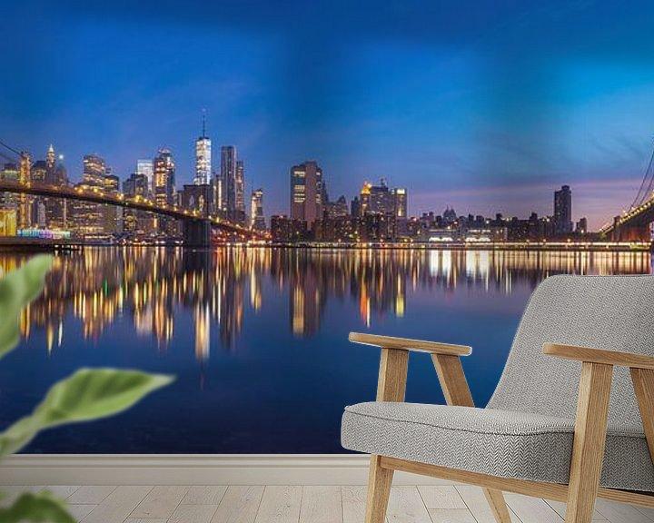 Sfeerimpressie behang: New York Panorama van Photo Wall Decoration