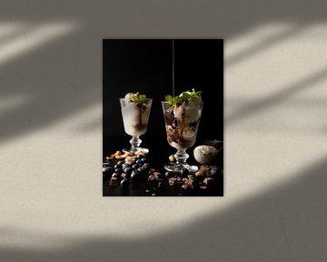 IJscoupe met chocoladesaus van Gaby Hendriksz