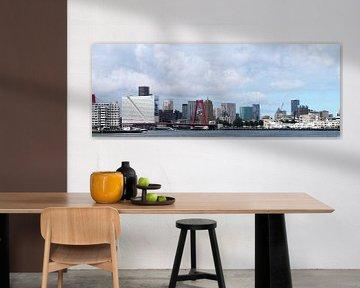 Skyline van Rotterdam vanaf de rivier von M  van den Hoven