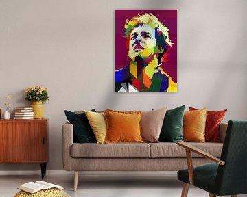 Bruce Springsteen Pop Art WPAP van Fariza Abdurrazaq