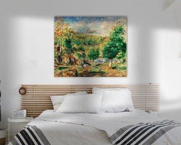Kastanienbäume, Pont-Aven, Renoir (1892)