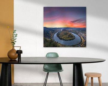 Mosel loop in de zonsopgang van Fotos by Jan Wehnert