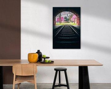 Schienen Richtung Frankfurt am Main von Fotos by Jan Wehnert
