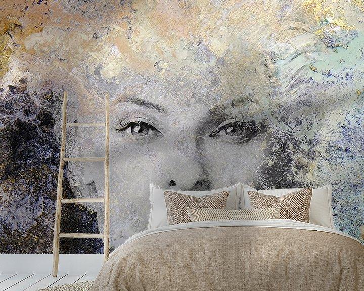 Sfeerimpressie behang: Linda Evangelista van Maaike Wycisk