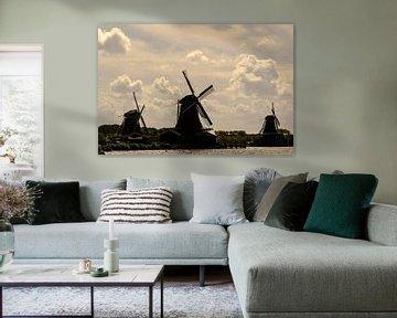 Mühle, Mühlen in Holland von Caroline Drijber