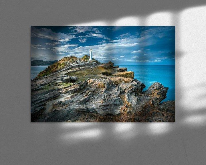 Sfeerimpressie: Castle Point Vuurtoren Nieuw Zeeland van FineArt Prints | Zwerger-Schoner |