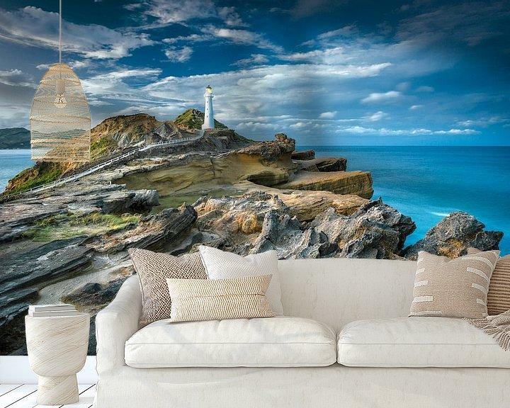 Sfeerimpressie behang: Castle Point Vuurtoren Nieuw Zeeland van FineArt Prints | Zwerger-Schoner |