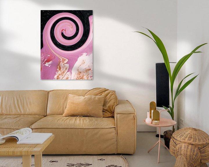 Sfeerimpressie: Pink Galaxy van Milky Fine Art