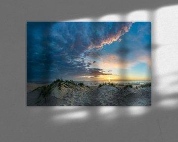 Texel Paal 12 prachtige zonsondergang