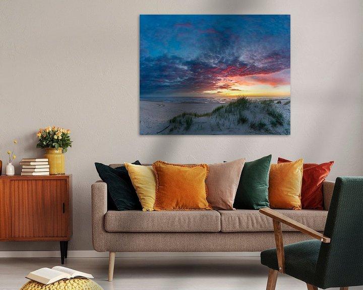 Sfeerimpressie: Texel Paal 12 na de zonsondergang van Texel360Fotografie Richard Heerschap