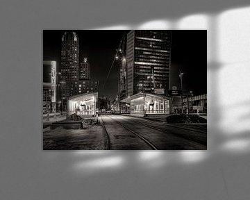 Wilhelminaplein bij nacht von Vincent van Kooten