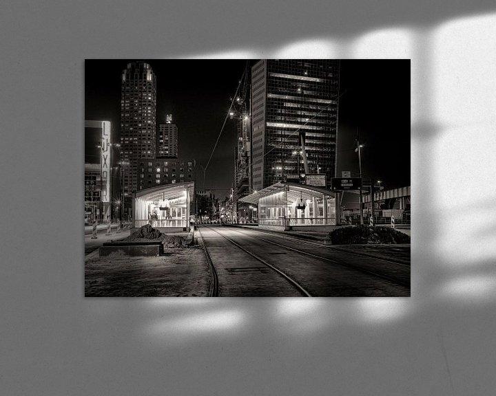 Sfeerimpressie: Wilhelminaplein bij nacht van Vincent van Kooten