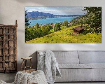 Prairie alpine avec vue sur le Tegernsee Haute-Bavière sur Susanne Bauernfeind
