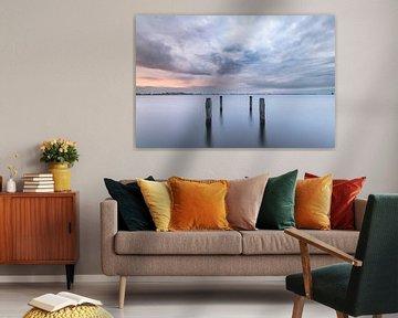 Paysage d'Alkmaardermeer au lever du soleil sur Olaf Oudendijk
