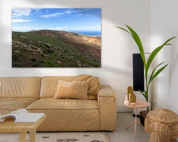 Panoramisch uitzicht vanaf het uitkijkpunt Mirador Morro Velosa op Fuerteventura van Reiner Conrad