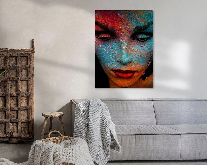 Beispiel: The painted face von Gabi Hampe
