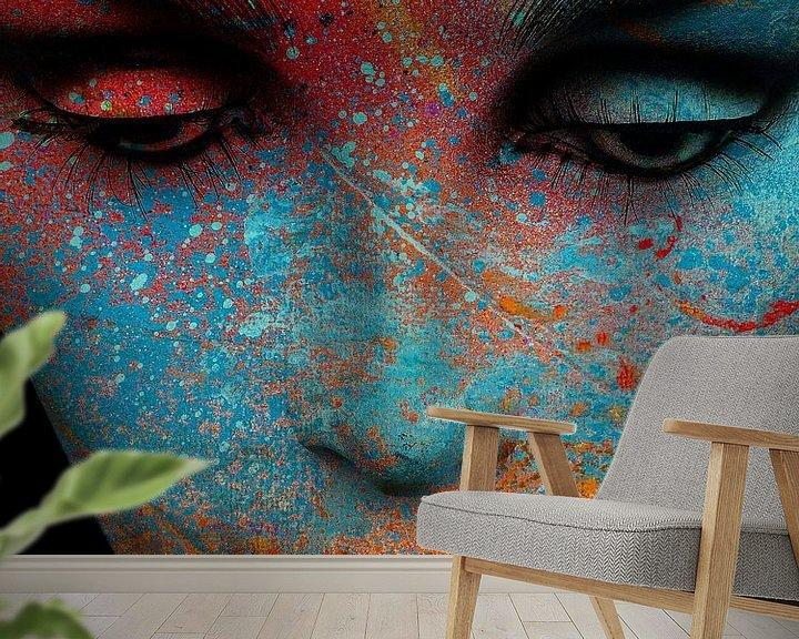 Beispiel fototapete: The painted face von Gabi Hampe