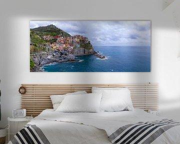 Blick über Manarola, Cinque Terre (Italien)