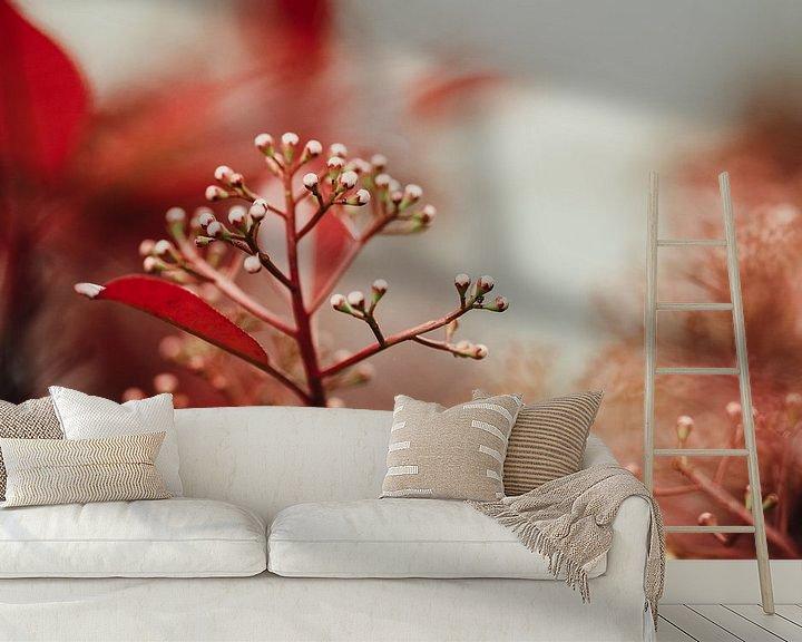 Sfeerimpressie behang: Red Bulps van Hiske Boon