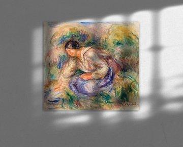Renoir, Femme en jupe bleue (1917) sur Atelier Liesjes