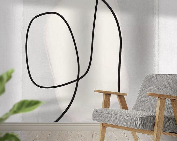 Beispiel fototapete: Moderne abstrakte Kunst - Linien 2 von Studio Malabar