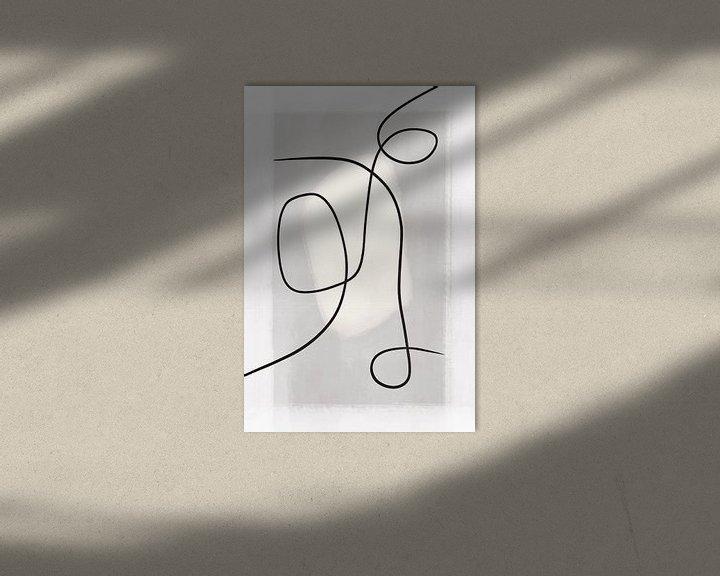 Beispiel: Moderne abstrakte Kunst - Linien 2 von Studio Malabar