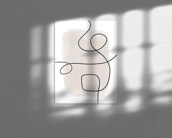 Beispiel: Moderne abstrakte Kunst - Linien 1 von Studio Malabar