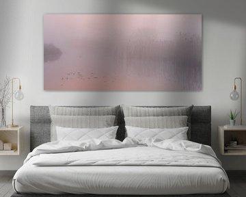 Pastel sunrise van Sander van der Werf