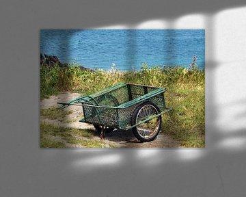 Handwagen, am Meer abgestellt