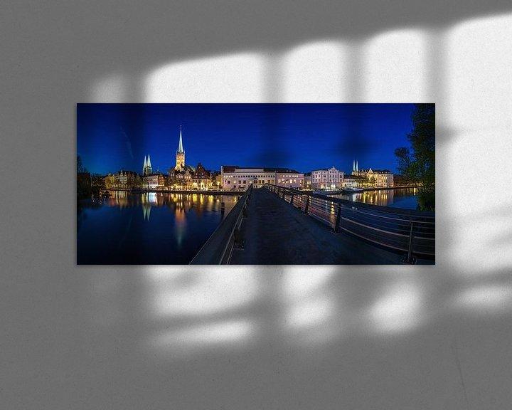 Impression: Lübeck Skyline sur Frank Herrmann