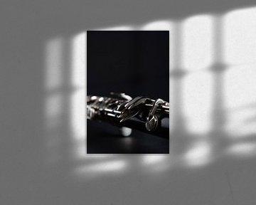 Close-up van klarinet
