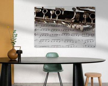 Clarinette avec feuille de musique 2