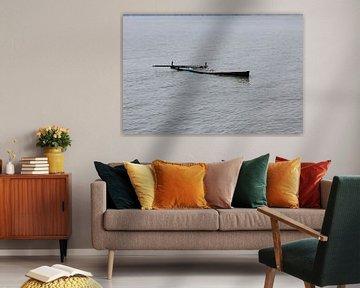 Overstroomde boot Kerkini Zee Griekenland van ADLER & Co / Caj Kessler